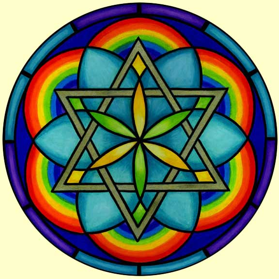 Mandala 16 Star Of David